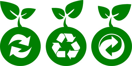 environment and recycle icons Stock Vector - 4509007