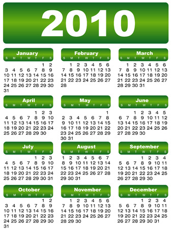 calendar 2010 green Illustration