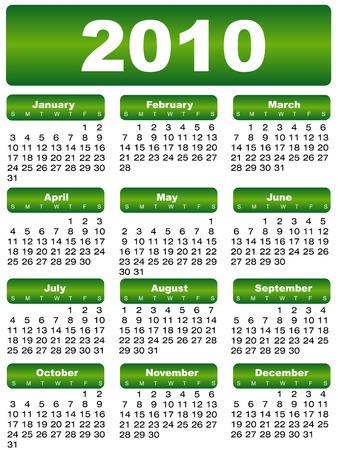 calendar 2010 green Illustration