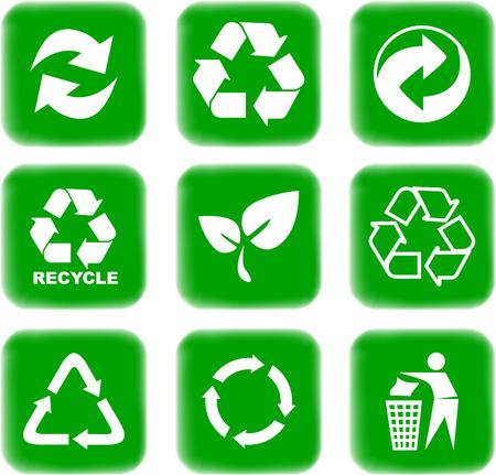 reciclar: medio ambiente y el reciclaje de los iconos