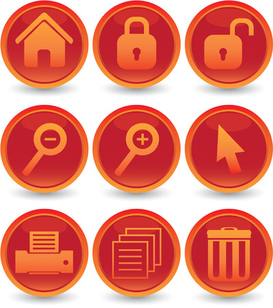 web icons set Stock Vector - 5409396