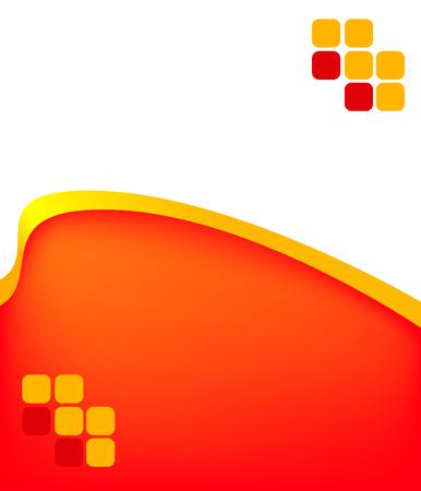 design background business for presentation red Stock Vector - 6364627