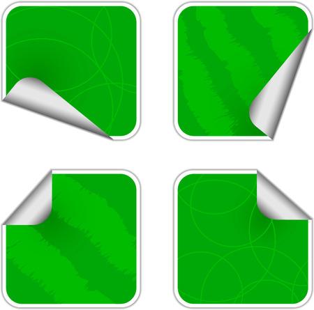 Etiquetas adhesivas de verdes