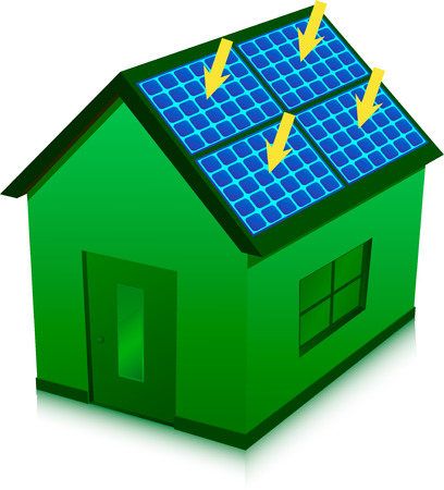 solar energy house Vector