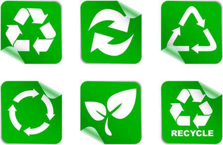 responsibilities: green environment and recycle icons