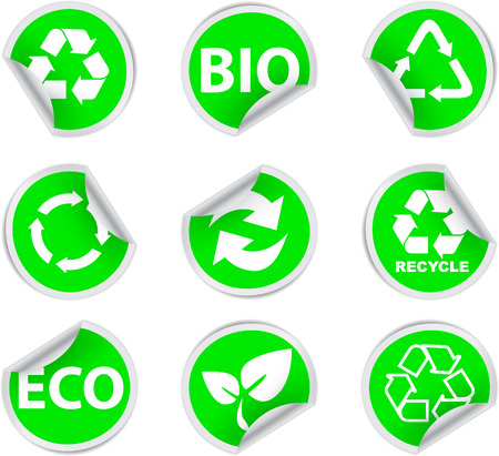 green environment and recycle icons Stock Vector - 6735543