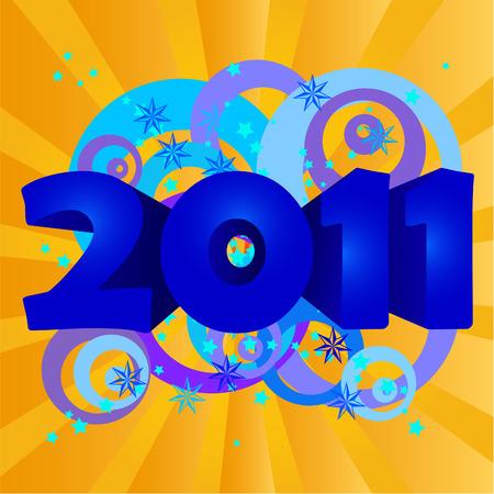 happy new year 2011  illustration Illustration
