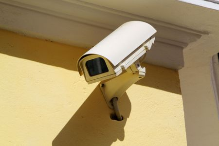 video wall: Security camera