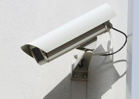 cctv: C�mara de seguridad  Foto de archivo