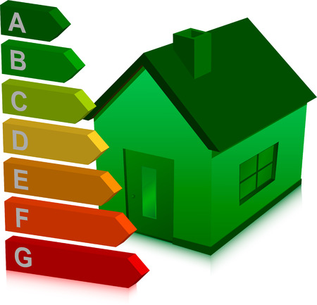 green house and energy classification Vector