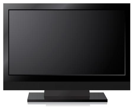 Black LCD, LED, Plasma TV Screen Vector