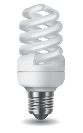 Illustration of an energy saving compact fluorescent lightbulb Vector