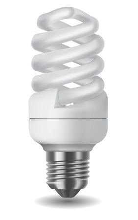Illustration of an energy saving compact fluorescent lightbulb Vector