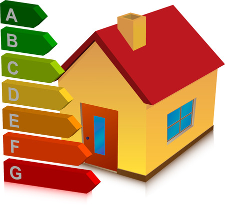 house and energy classification Illustration