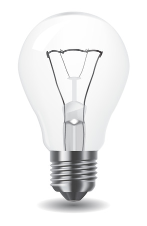 lighting bulb: illustration of classic light bulb Illustration