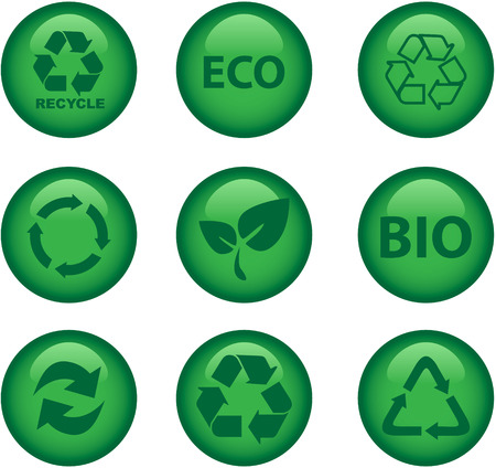 green environment and recycle icons Stock Vector - 8070736