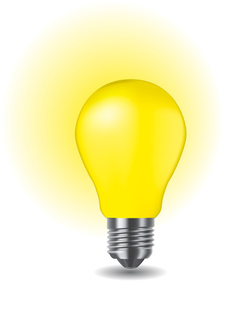 light shadow: illustration of shiny classic light bulb