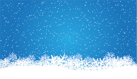 blauwe Kerst achtergrond met sneeuwvlokken Vector Illustratie