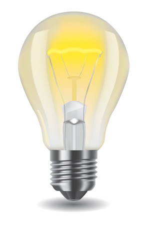 light bulb idea: illustration of shiny classic light bulb