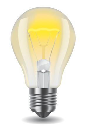 bombilla: Ilustraci�n de brillante bombilla cl�sica  Vectores