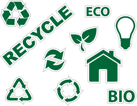 green environment and recycle icons Stock Vector - 8198214