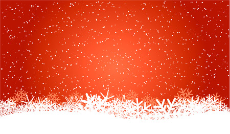 red christmas background with snowflakes Illustration