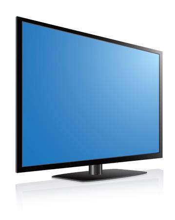 Noir LCD, les LED, les TV plasma, écran bleu