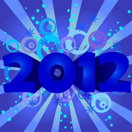 happy new year 2012 vector illustration Vector
