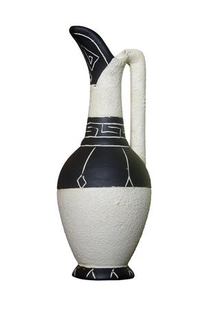 Jug wine. White background, isolation Stock Photo