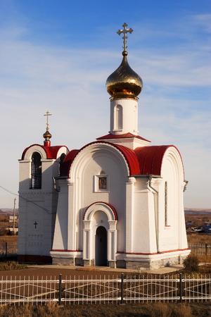 tabernacle: St. Nicholas Church in the village Pogromnoye, Buzuluk district of Orenburg region. Russia. 15.11.2009