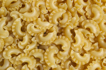 dry provisions: Background of raw pasta