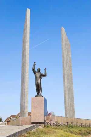 Monument to the first cosmonaut Yuri Gagarin
