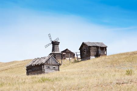 Abandoned village, Russia Stock Photo