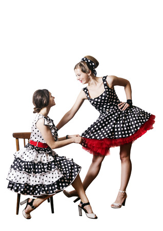 Two funny girls. Pin-up