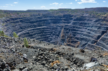 Copper ore quarry  The picture was taken in Russia, in Bashkortostan, in Sibai