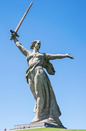 Volgograd, Russia - June 7, 2018: Motherland Calls Monument