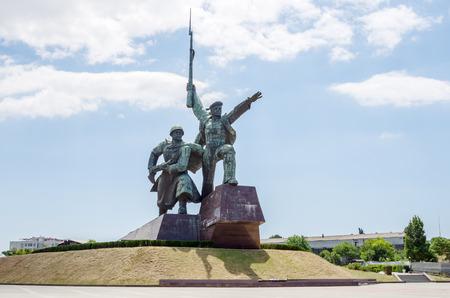 Russia, the peninsula of Crimea, the city of Sevastopol. 06/10/2018: Monument