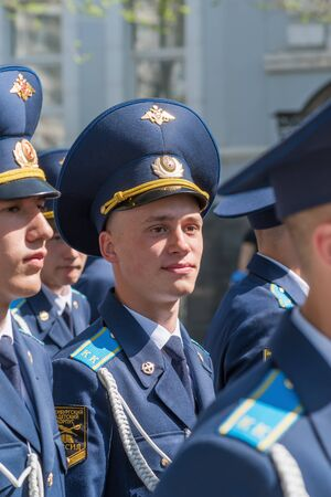 Cadets of the Cadet Corps in the parade. Orenburg, Russia - May 9, 2019: Victory Parade on Lenin Square