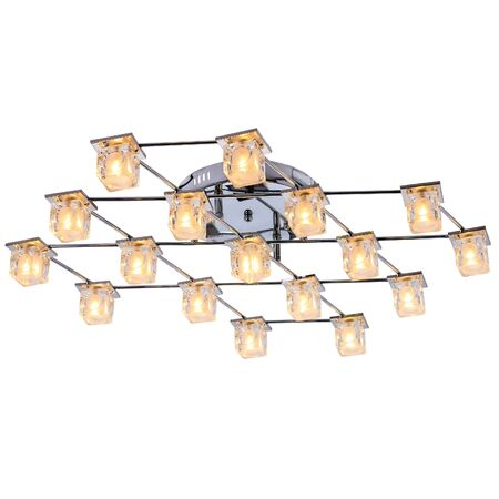 Ceiling lamp. Modern chandelier with LED lamps isolated on white background