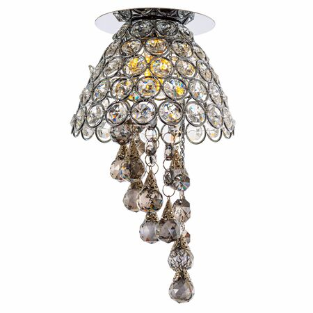 Recessed LED luminaire with dark glass pendants. Modern lamp isolated on white background Reklamní fotografie