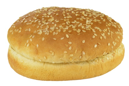 crus: Hamburger bun  isolated on a white background