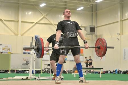 barbel: Canada May 25 2013  Powerlifting event - deadlift lift  (Nova Scotia Powerlifting Provincials) Editorial