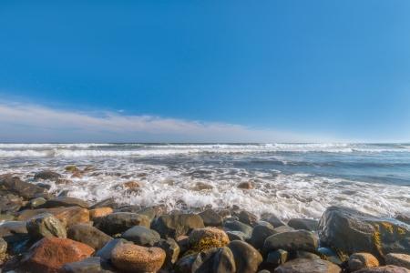 provincial: Ocean Coast and Waves  Lawrencetown Beach Provincial Park, Nova Scotia  Stock Photo