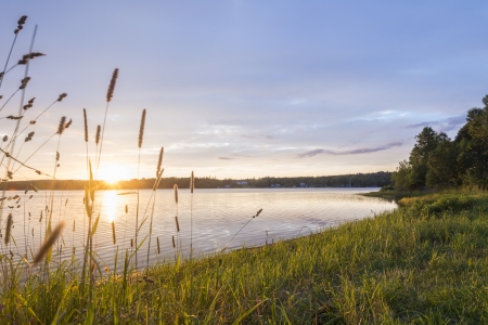 Sunset on the Mira River  Cape Breton, Nova Scotia, Canada  photo