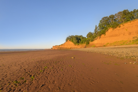 Blomidon beach at low tide  Blomidon Provincial Park, Nova Scotia, Canada  photo