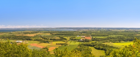 A panoramic view from the Blomidon park look off  Annapolis Valley, Nova Scotia, Canada