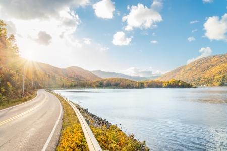 scotia: Beautiful autumn panorama   Cape Breton, Nova Scotia, Canada