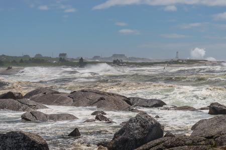 Nova Scotia: Fishing village at Storm  Nova Scotia, Canada