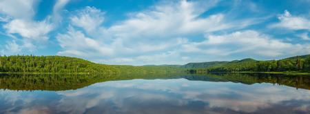 warren: Panorama of Warren lake in Cape Breton Highlands National Park, Canada  Stock Photo