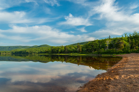 warren: Warren lake in Cape Breton Highlands National Park, Canada